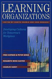 Cover of: Learning organizations | edited by Sarita Chawla and John Renesch.