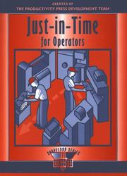 Cover of: Just-in-time for operators |