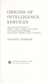 Cover of: Origins of intelligence services