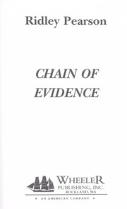 Cover of: Chain of evidence | Ridley Pearson