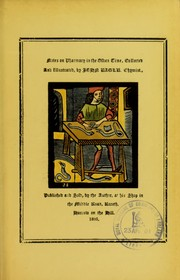 Cover of: Notes on pharmacy in the olden time, collected and illustrated | John Eagle
