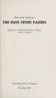 Cover of: The Buck Fever papers: Edited by Welford Dunaway Taylor.