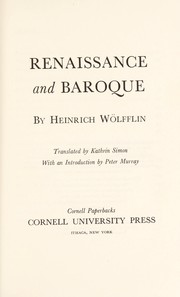 Cover of: Renaissance and baroque