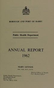 Cover of: [Report 1962] | Barry (Wales). Borough and Port Council