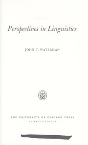 Cover of: Perspectives in linguistics