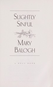 Cover of: Slightly sinful | Mary Balogh
