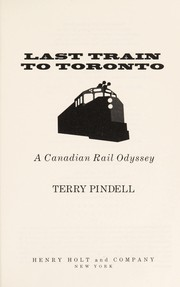 Cover of: Last train to Toronto