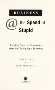 Cover of: Business @ the speed of stupid