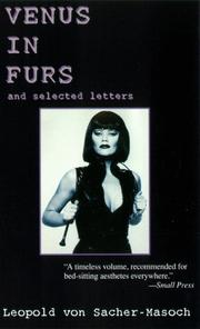 Cover of: Venus in Furs With Selected Letters of Sacher Masoch