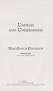 Cover of: Undead and undermined