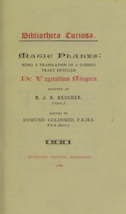 Cover of: Magic plants