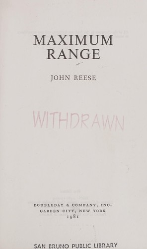 Maximum range by John Henry Reese