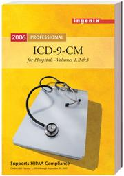Cover of: ICD-9-CM Professional for Hospitals, Volumes 1, 2, & 3, Fullsize Version | Ingenix