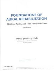 Cover of: Foundations of aural rehabilitation | Nancy Tye-Murray