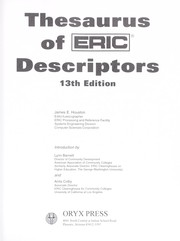 Cover of: Thesaurus of ERIC descriptors