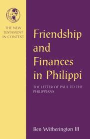 Cover of: Friendship and finances in Philippi | Ben Witherington