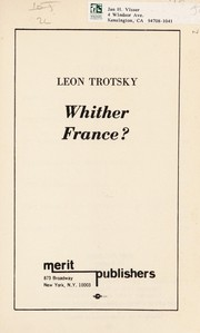 Cover of: Whither France?