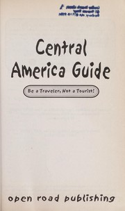 Cover of: Central America guide | Paul Glassman