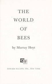 Cover of: The world of bees