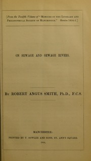 Cover of: On sewage and sewage rivers