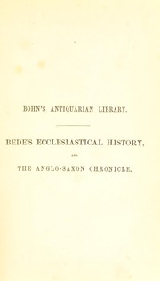 Cover of: The Venerable Bede's Ecclesiastical history of England