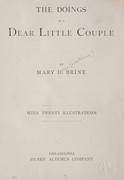 Cover of: The doings of a dear little couple | Mary D. Brine