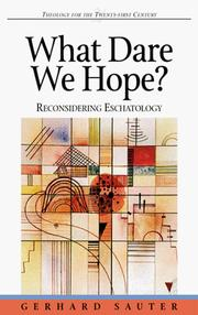 Cover of: What dare we hope?