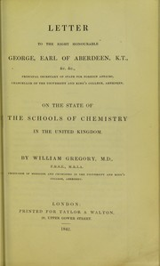 Cover of: Letter to the Right Honourable George, Earl of Aberdeen, K.T., &c. & c., Principal Secretary of State for Foreign Affairs, Chancellor of the University and King