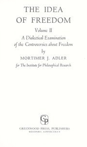 Cover of: The idea of freedom
