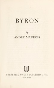 Cover of: Byron