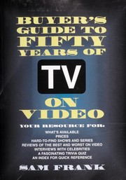 Cover of: Buyer's guide to fifty years of TV on video | Sam Frank
