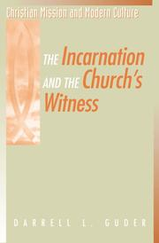 Cover of: The Incarnation and the Church's Witness (Christian Mission and Modern Culture)