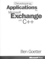 Cover of: Developing applications for Microsoft Exchange with C [plus plus]. | Ben Goetter