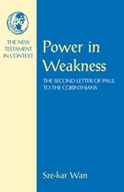 Cover of: Power in weakness