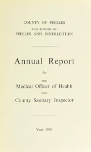 Cover of: [Report 1956] | Peebleshire (Scotland). County Council