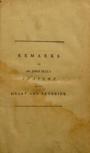 Cover of: Remarks on Mr. John Bell