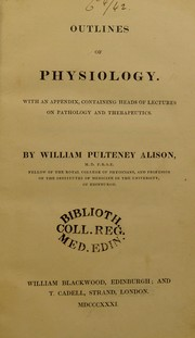 Cover of: Supplement to Outlines of physiology