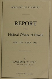 Cover of: [Report 1941] | Llanelli (Wales). Borough Council