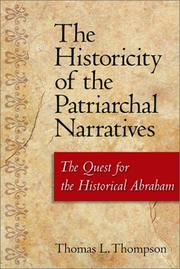 Cover of: The historicity of the patriarchal narratives