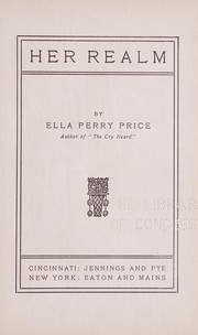 Cover of: Her realm | Ella Perry Price