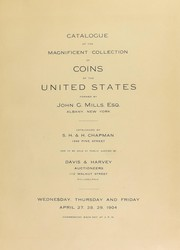 Catalogue of the magnificent collection of coins of the United States