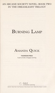 Cover of: Burning lamp |