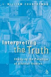 Cover of: Interpreting the Truth | L. William Countryman