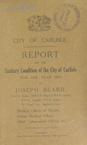 Cover of: [Report 1923]