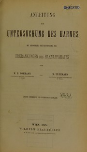 Cover of: Anleitung zur Untersuchung des Harnes