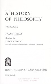 A history of philosophy.