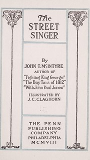 Cover of: The street singer