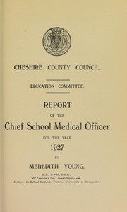 Cover of: [Report 1927]