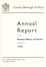 Cover of: [Report 1970]