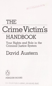 Cover of: The crime victim's handbook